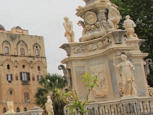 Brunnen Normannenpalast